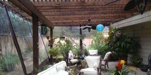 Temporary Solarium / Patio Enclosures that Provide Plant Protection