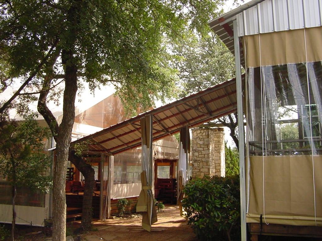 outdoor patio enclosure