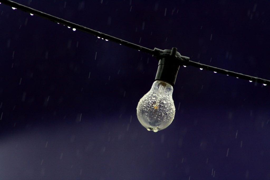 Light Bulb In Rain